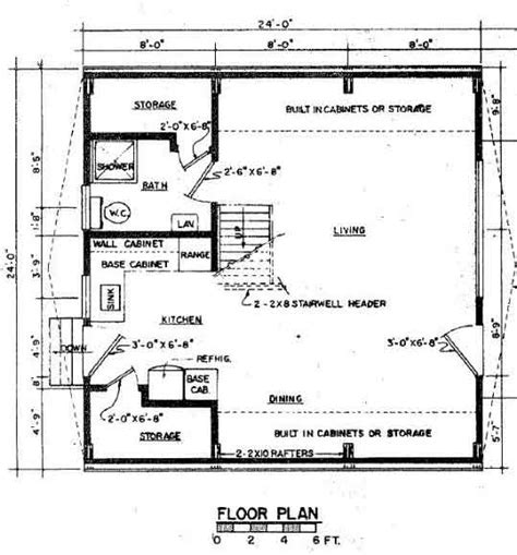 small a frame house floor plan