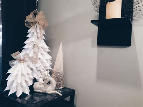 diy white paper christmas trees