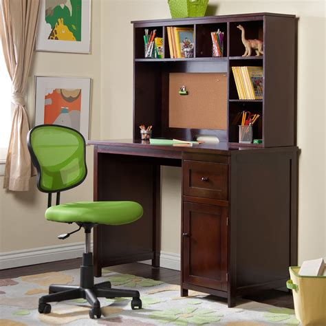 Student Desk For Bedroom by Piper Student Desk With Optional Hutch Set Espresso At
