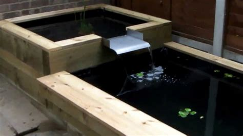 jvk woodwork raised wooden fish pond