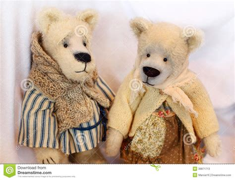 Handmade Teddy Bears From Clothes - teddy bears stock photo image 39871713