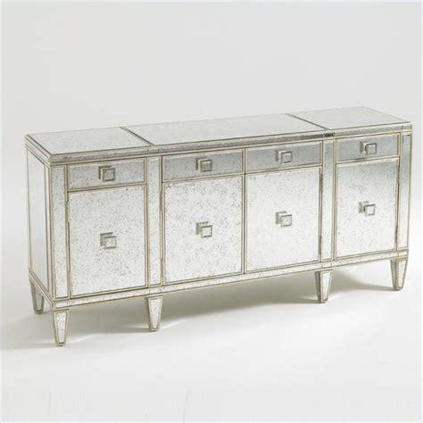Aquarius Polaris Mirrored Buffet In Antique Mirror Gold Mirror Buffet