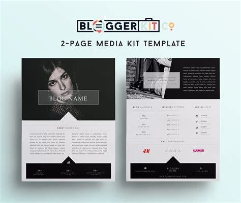 fashion blogger media kit template diy media kit