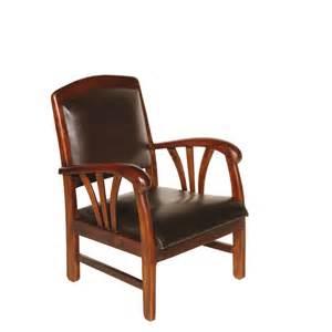 fauteuil bois fauteuil exotique bois et cuir chocolat dika pier import