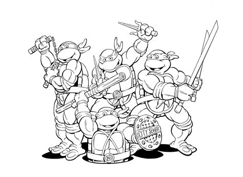 Craftoholic Teenage Mutant Ninja Turtles Coloring Pages Tmnt Colouring Pages