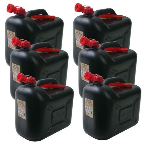 land kanister sets für küche 6x kraftstoffkanister kks20pe 20 liter schwarz