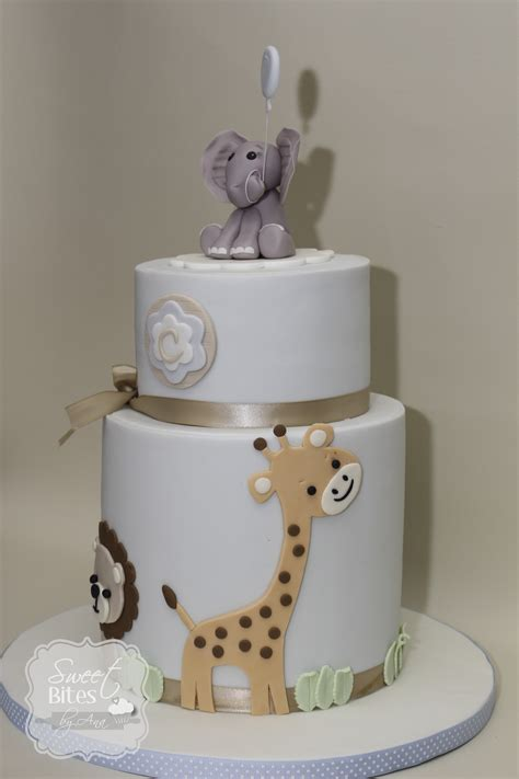 Animal Baby Shower Cakes by Animal Theme Boy Baby Shower Cake Cakecentral