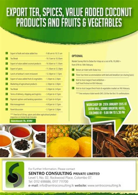 value added product from vegetable limited liability company registration in sri lanka