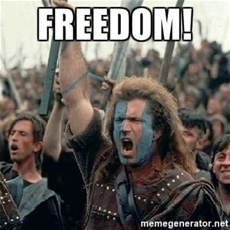 William Wallace Meme - freedom william wallace braveheart mel gibson lol
