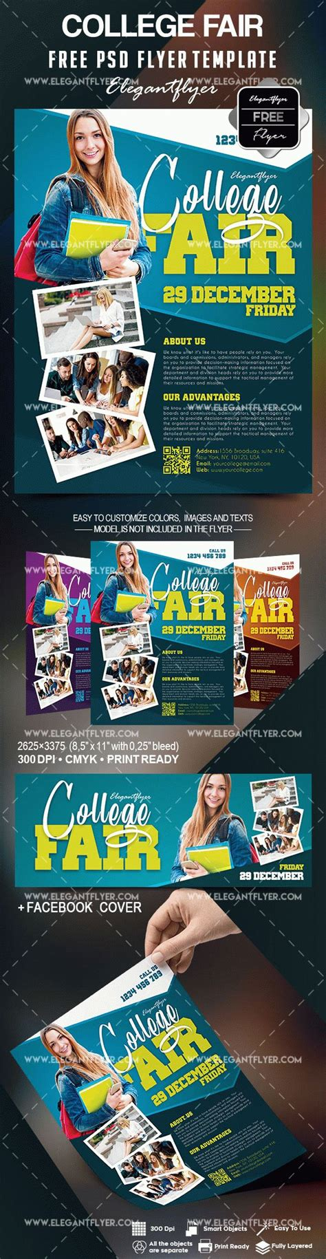 Free College Fair Flyer Template By Elegantflyer College Fair Flyer Template