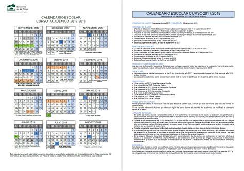 calendario escolar de la rioja 2015 2016 para imprimir calendario escolar 2017 2018 divino maestro de logro 241 o