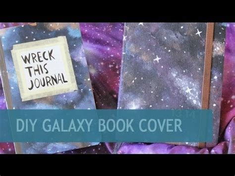 How To Make A Book Cover With A Paper Bag - diy galaxy book cover