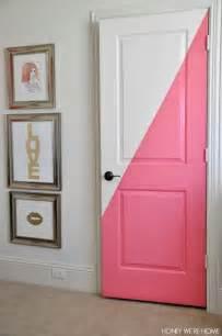 Door Paint Honey We Re Home Diagonal Painted Office Doors