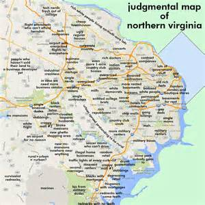 Map Of Northern Virginia by Judgmental Maps Northern Va