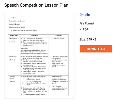 speech planning template image collections templates