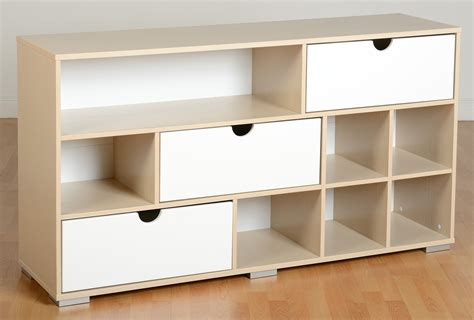 Cube Storage Dresser by Sideboard White Gloss Maple 3 Drawer Storage Unit 7 Cube