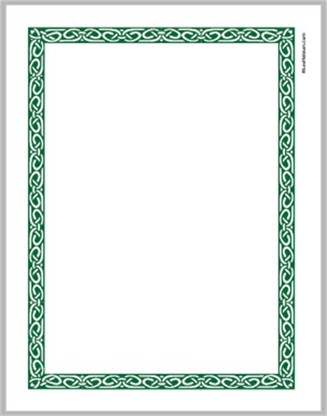 How To Make Paper Borders - printable celtic knot border paper