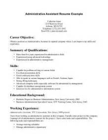 administrative cover letter exle entry level administrative assistant resume best
