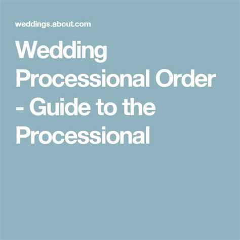 Wedding Ceremony Processional Order by Best 25 Wedding Processional Order Ideas On