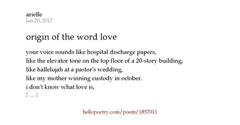 Origin Of The Word Love | origin of the word love by arielle hello poetry