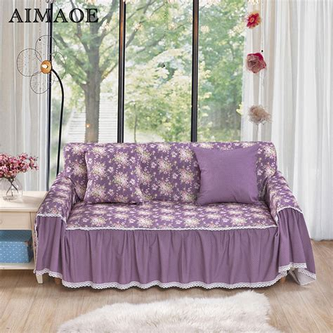 2016 Casual Pastoral Blending Sofa Cover Cornor Floral Floral Sofa Slipcover