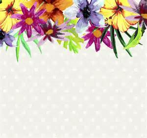 watercolor flower background vector free download