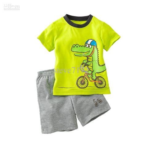 Tshirt Reebok One Clothing Murah 2018 dino boys suits pajamas summer tracksuits children s