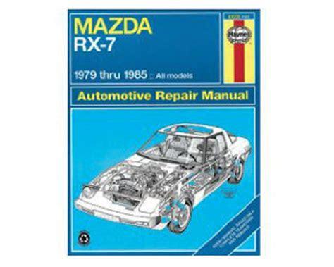 mazda rx 7 repair workshop manual 1979 1985 haynes 61035 early rotary 1979 85 mazda rx 7 racing beat autos post