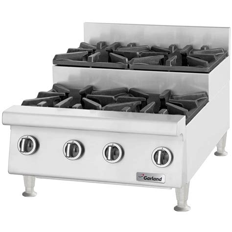 Propane Countertop Stove by Garland Gtog24 Su4 Liquid Propane 4 Burner 24 Quot Step Up