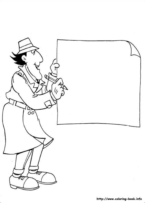 inspector gadget coloring picture coloring page