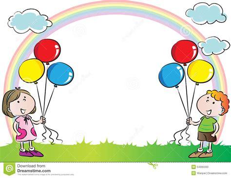 clipart per bambini bambini con l arcobaleno nei precedenti illustrazione di