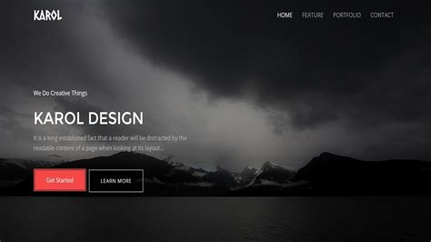 Page Free 100 best responsive free one page bootstrap template with