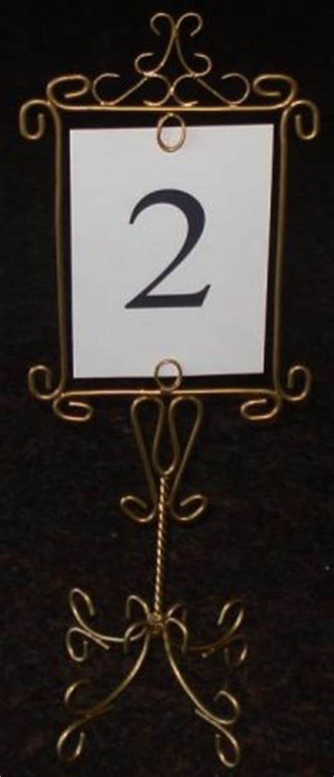 brass table number holders wedding table number holders easel moments