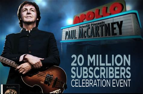 house music on xm radio paul mccartney concert at apollo theater for sirius xm
