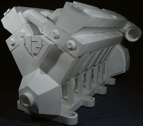 Papercraft Engine - v12 engine 08 jpg