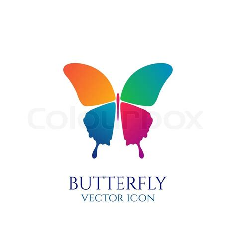 colorful butterfly logo butterfly conceptual simple colorful icon logo vector