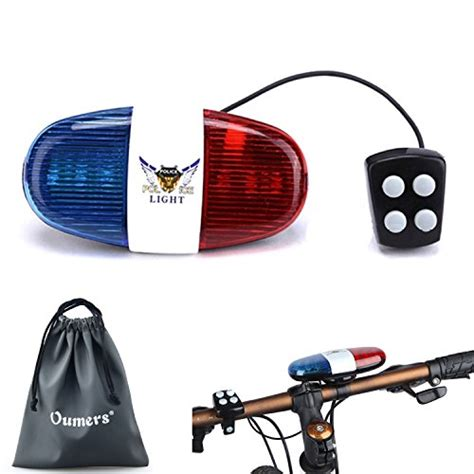 police bicycle lights and siren oumers oumers bicycle police sound light bike led light