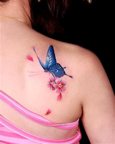 what does a tattoo on your right shoulder mean amazing new blue butterfly tattoo on right back shoulder