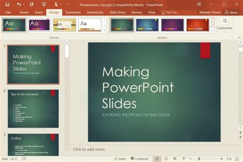 how to change templates in powerpoint 2016