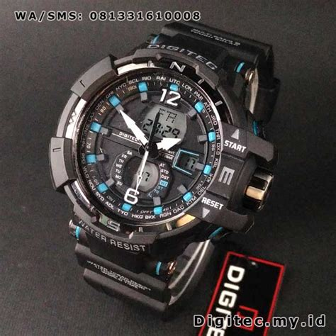 Jam Tangan Biru digitec dg 2065t hitam biru aviation dualforce series