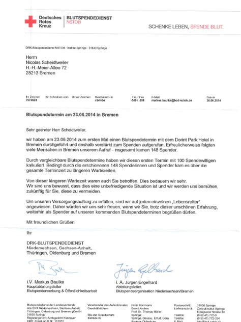 Entschuldigung Brief Beispiel Entschuldigung Tolle Kommunikation Vom Drk Bremen