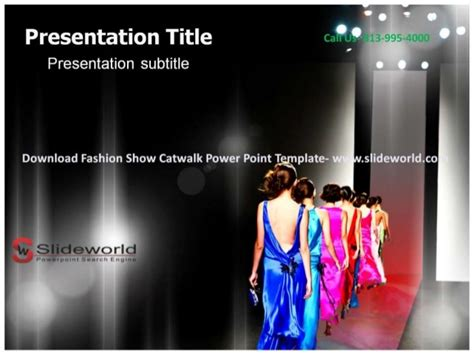Fashion Show Catwalk Powerpoint Template Show Powerpoint Template