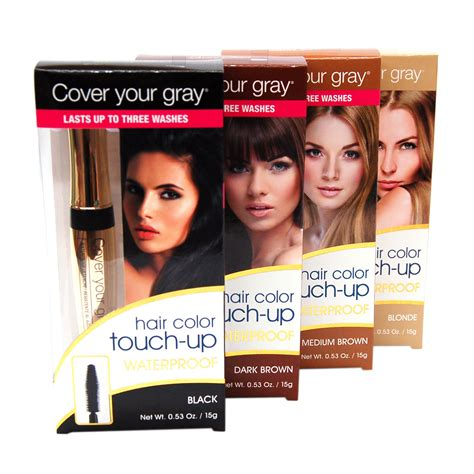 brush in hair color cover your gray waterproof brush in hair color touch up