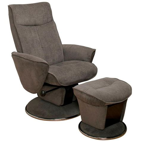 glider with ottoman relax r charcoal fabric swivel glider recliner with