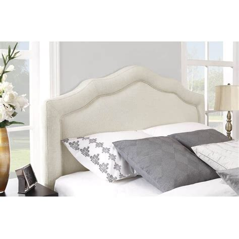 bed king upholstered headboard loccie  homes gardens ideas