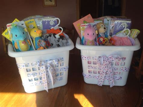 use laundry basket as quot gift bag quot for baby shower gifts i
