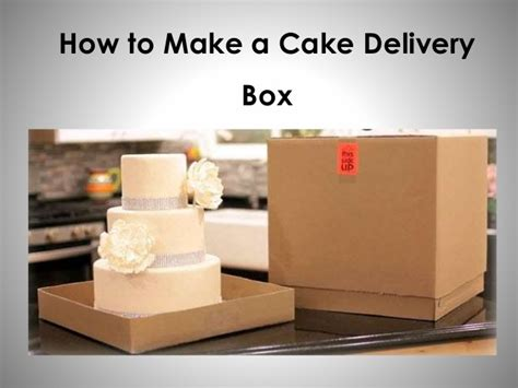 How To Make A Box From A Of Paper - how to make a cake delivery box