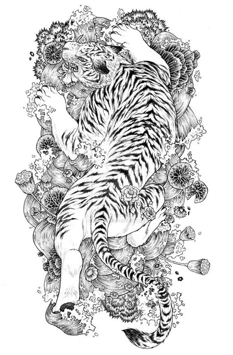 japanese tiger tattoo designs tiger designs the is a canvas