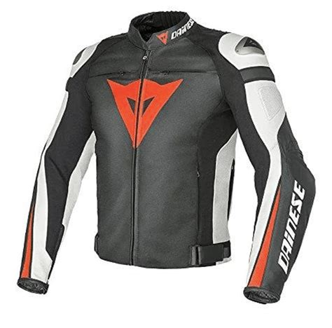 dainese super speed  black white red deri motosiklet montu