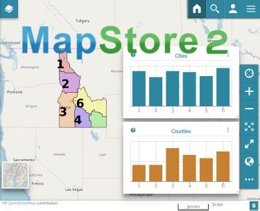 new release of mapstore with charts and revised filtering